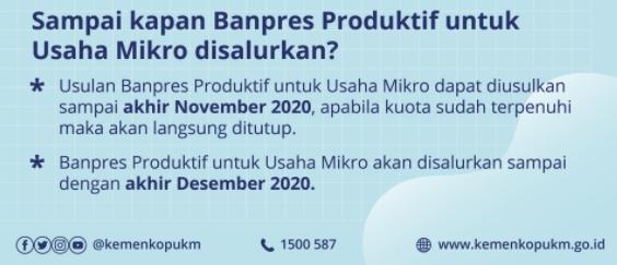 Tanya Jawab tentang Banpres Produktif untuk Usaha Mikro_