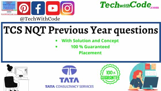 TCS NQT Previous year question papers pdf  Placement Prep  Tech With Code