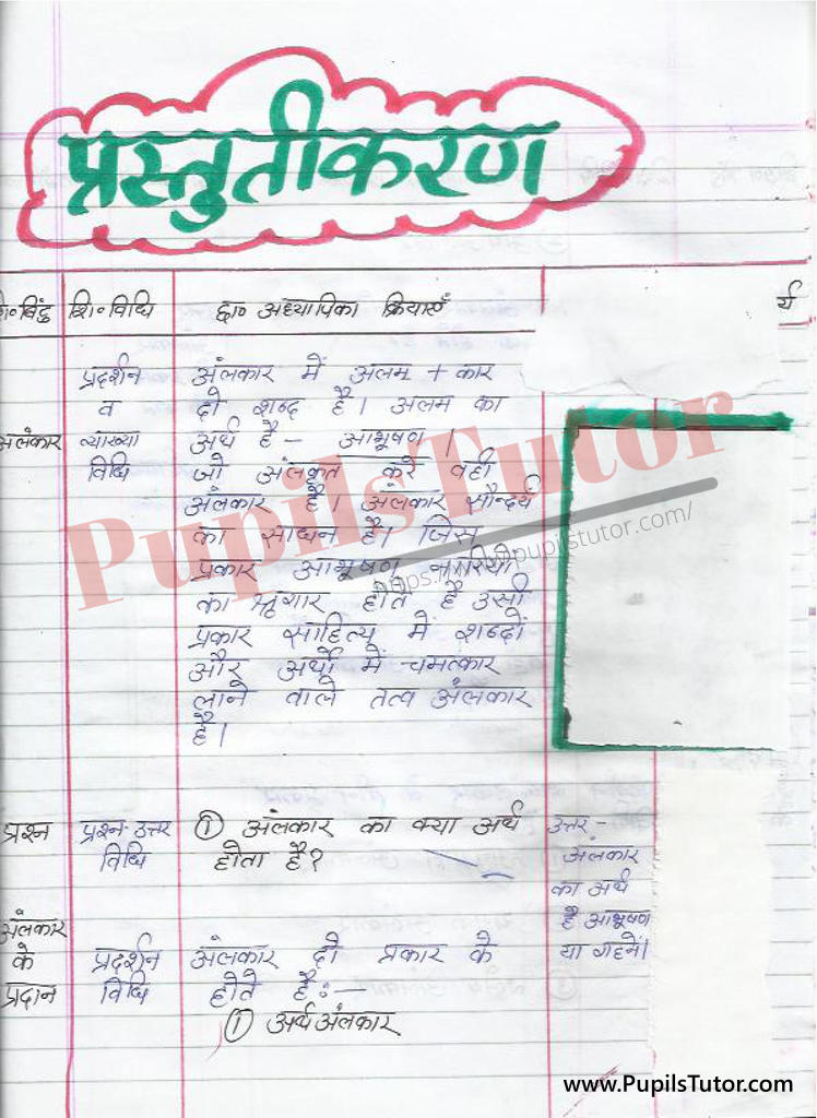 Hindi ki Mega Teaching Aur Real School Teaching and Practice Path Yojana on Alankar Ke Bhed kaksha 4 se 8 tak  k liye