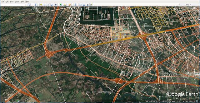 Mạng lưới đường giao thông qua trung tâm Nhơn Trạch