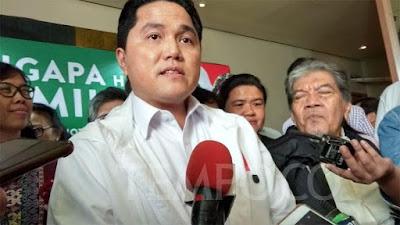BPN Prabowo Bicara Lahan, Erick Thohir: Punya Saya Bersih dan Halal