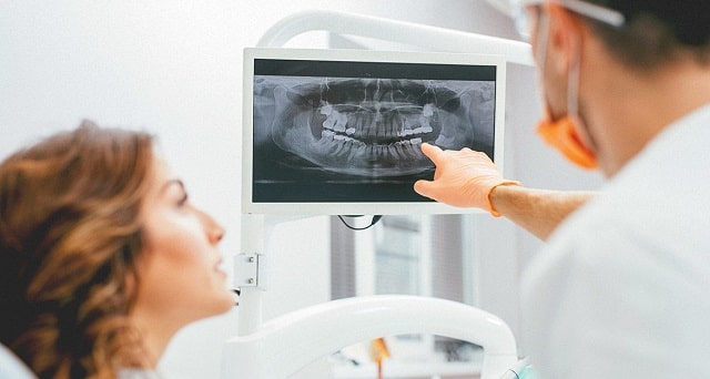 how much radiation exposure from dental x-ray