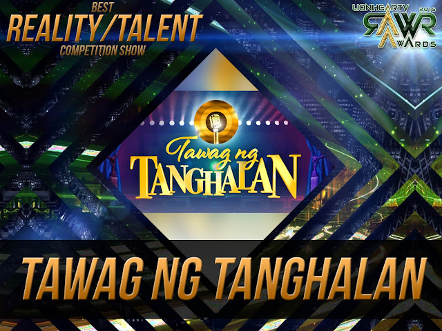 "LION: ""It's Showtime's"" 'Tawag ng Tanghalan' wins Best Reality/Talent Show of the Year #RAWRAwards2016"