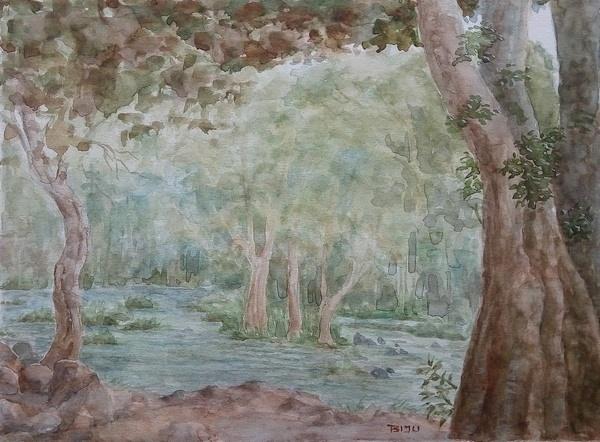 Impressionist landscape painting by Biju P Mathew