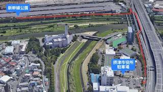 摂津市役所からの行き方マップ
