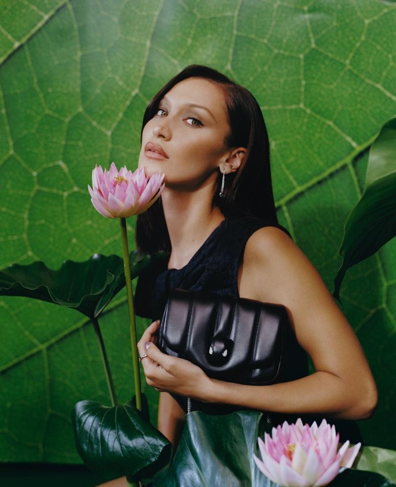 Bella Hadid stars in Bulgari x Ambush accessories campaign.