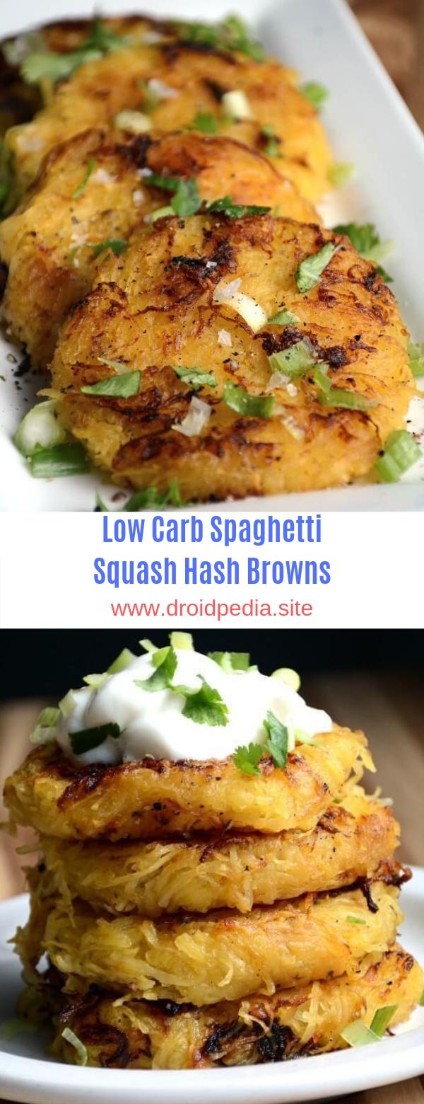 Low Carb Spaghetti Squash Hash Browns