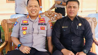 Wadir Binmas Polda NTB AKBP Yusuf Sutejo bersama Direktur Utama PT. Rajawali Buana Agung, Ruhman