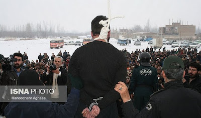 Public hanging in Bektash, Iran on January 16, 2017