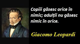 Citatul zilei: 29 iunie - Giacomo Leopardi