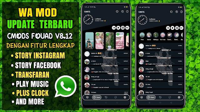 WhatsApp mod Terbaru 2020  WA CMODS FOUAD V8.12