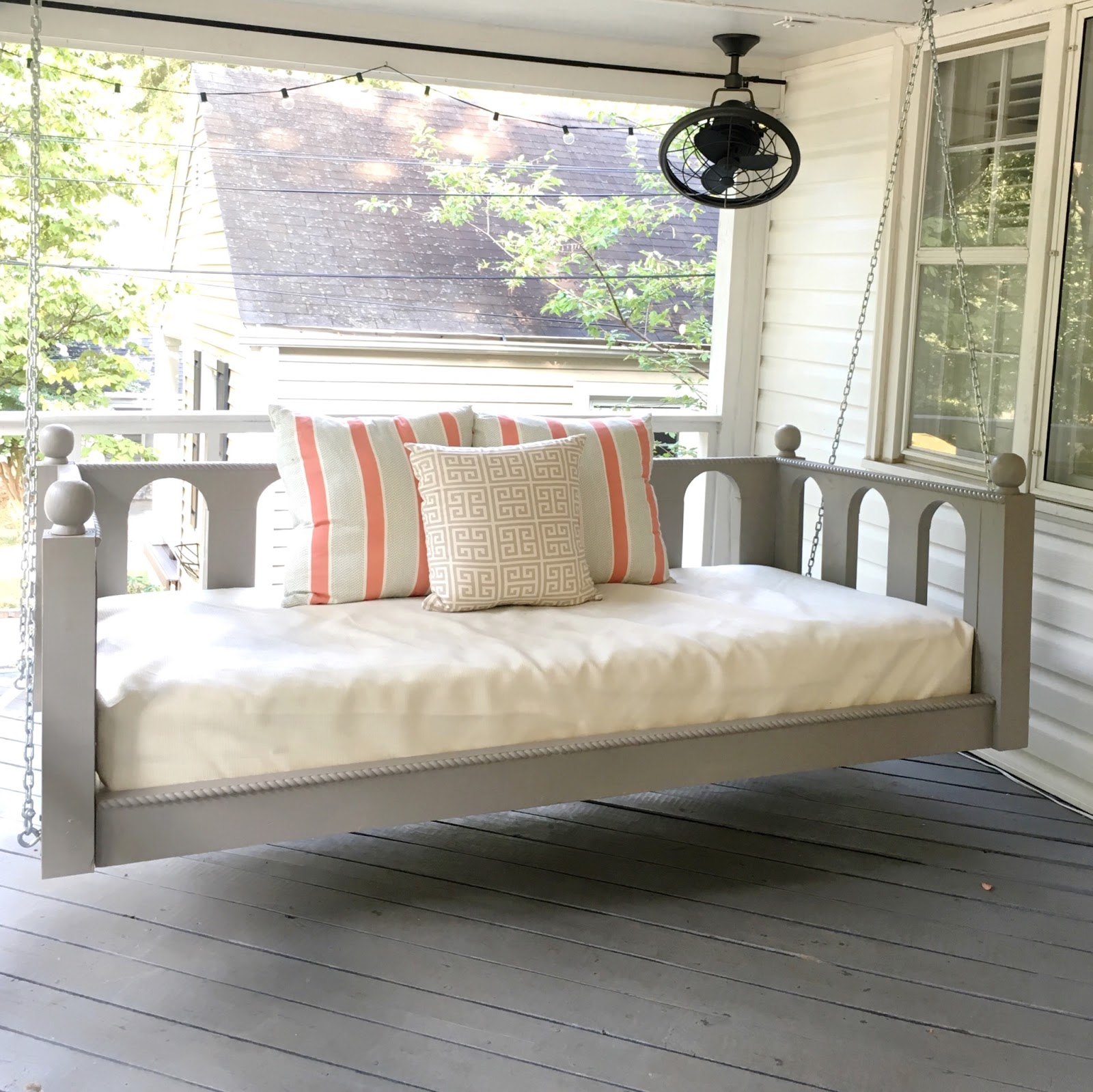 a creative day: PORCH BED SWINGS