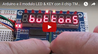 Video modulo LED & KEY basato sul chip TM1638