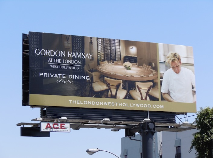 Gordon Ramsey London Hotel Private Dining billboard