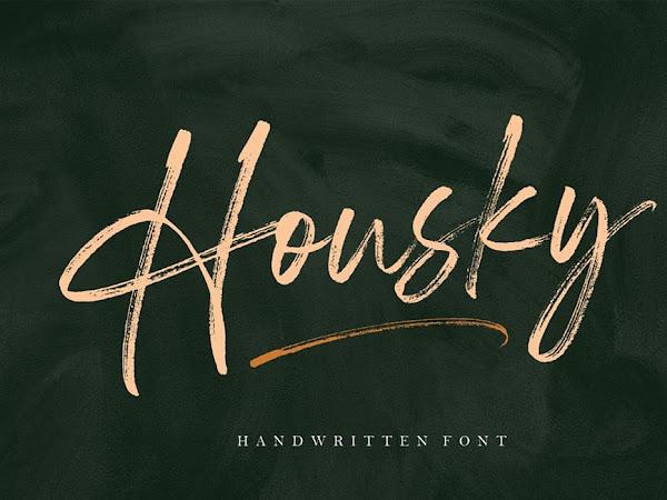 Housky - Handwritten Font