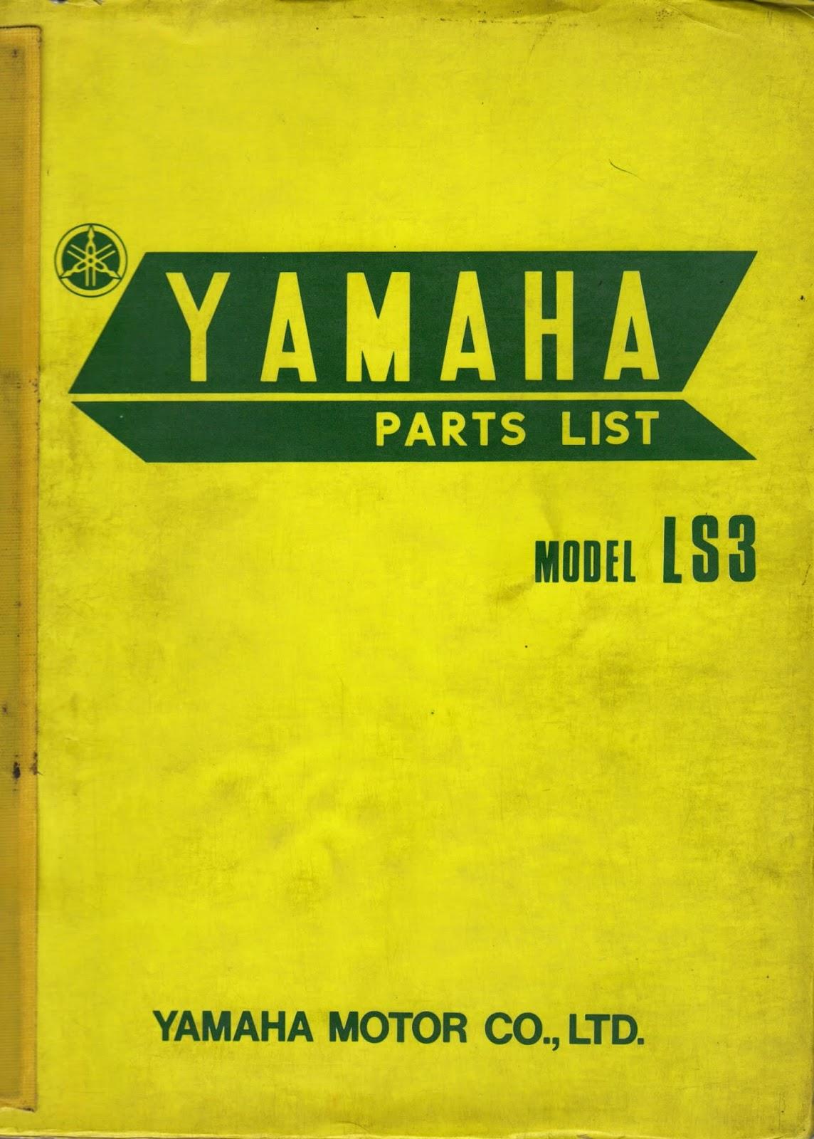 Restoration Yamaha LS3 1972: Specifications, Media and service table Yamaha  LS3