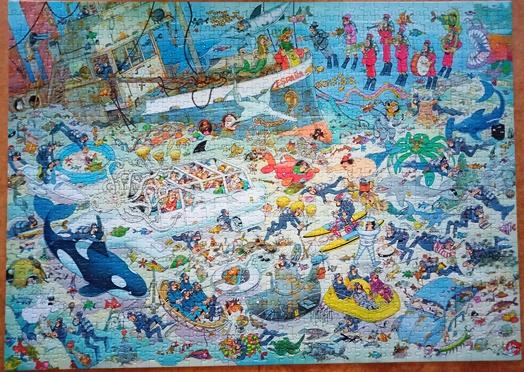 underwater jigsaw