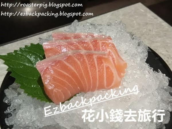 蒲燒鰻魚配三文魚刺身三件