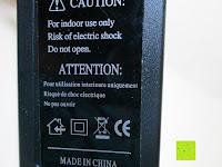 Hinweis auf Netzteil: LIHAO 5M LED Strip Warmweiß 600 SMDs Band wasserdicht Streifen mit Hohlbuchse+Netzteil DC 12V Trafo Set [Energieklasse A]