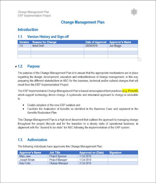 Change Management Plan, prosci change management