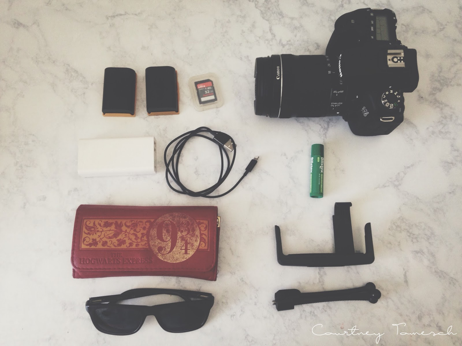 Courtney Tomesch What's in my Camera Bag