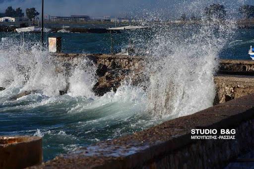 Λιμεναρχείο Ναυπλίου: Συνεχίζονται οι θυελλώδεις βοριάδες