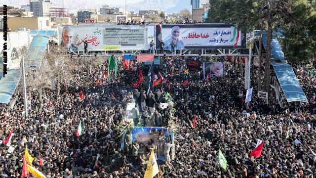 مقتل أكثر من 30 شخصا بسبب التدافع خلال مراسم تشييع ودفن سليماني في مسقط رأسه