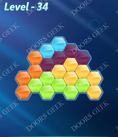 Block! Hexa Puzzle [Intermediate] Level 34 Solution, Cheats, Walkthrough for android, iphone, ipad, ipod