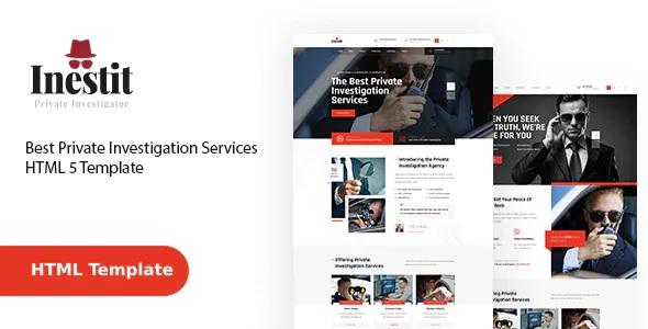 Best Private Investigator Company Website Template