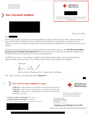 Red Cross Charity Solicitation Letter