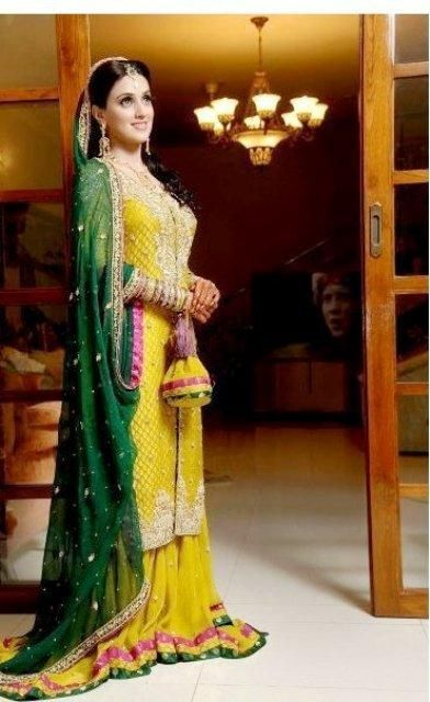 Multi Color Pakistani Mehndi Dresses for Bridals - Guardians