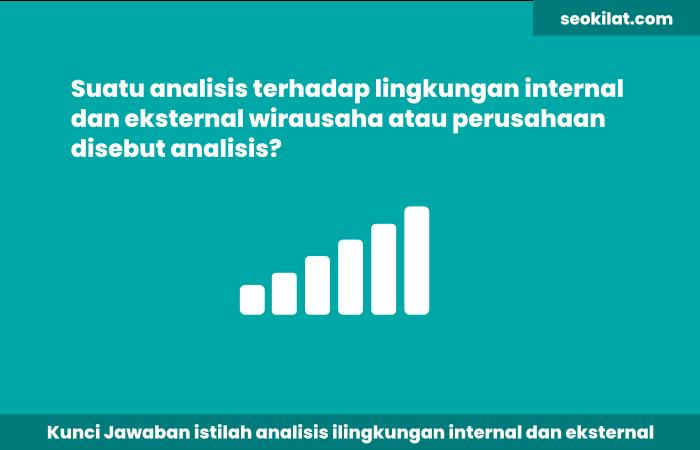 Suatu analisis terhadap lingkungan internal dan eksternal wirausaha atau perusahaan disebut analisis