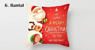 Bantal merupakan salah satu souvenir natal terfavorit