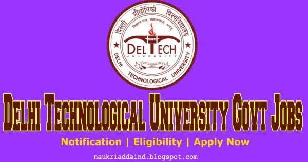 dtu-delhi-recruitment-naukriaddaind  Th P Govt Job Online Form Railway on