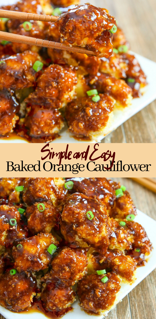 Baked Orange Cauliflower #healthyfood #dietketo #breakfast #food