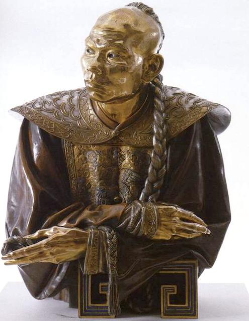 Charles Cordier (1827-1905) Un chinois, 1853 Bronze émaillé et inscrusté, Art Gallery of Hamilton, Canada