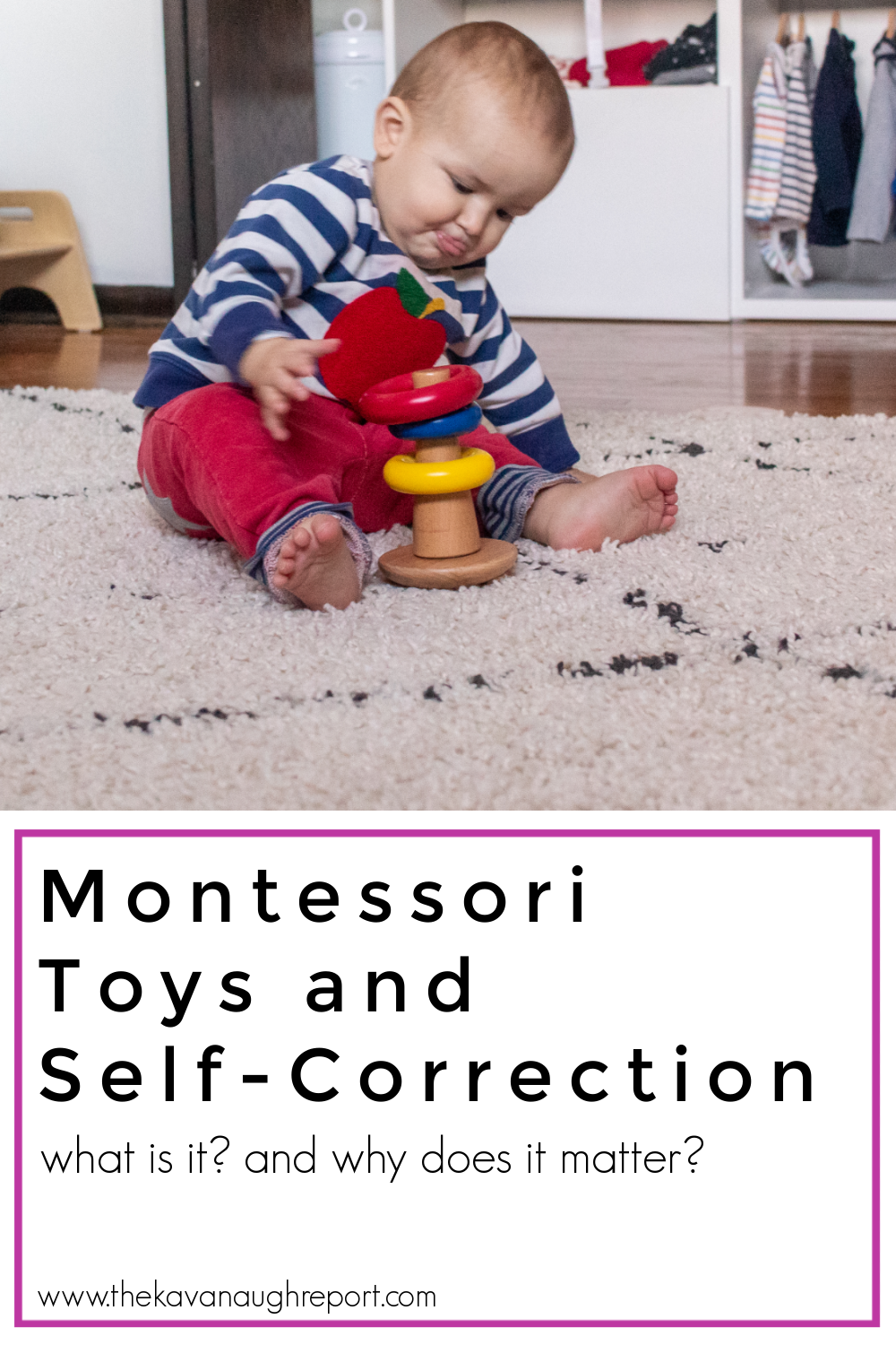 One important quality of Montessori toys is that they are self-correcting. Here is some information about why self-correcting materials are important.