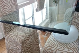 Artlook Glass has a variety of unique one of a kind textures and designs to enhance Table Tops, Bar Tops and Counter Tops.