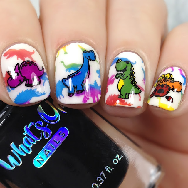 What's Up Nails-B055 Stampasaurus