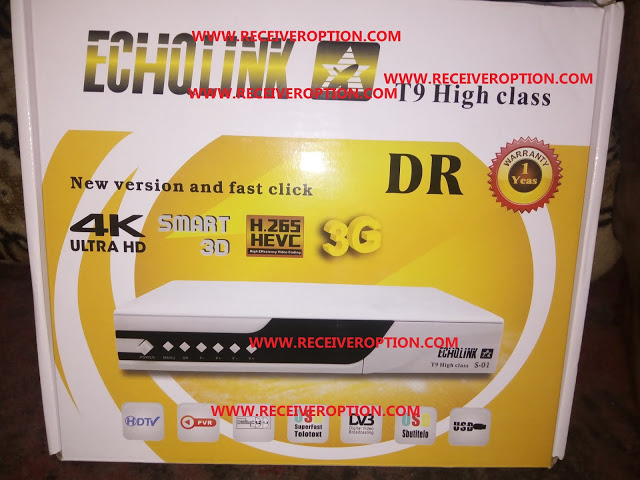 ECHQLINK T9 HIGH CLASS HD RECEIVER TEN SPORTS OK NEW SOFTWARE BY USB