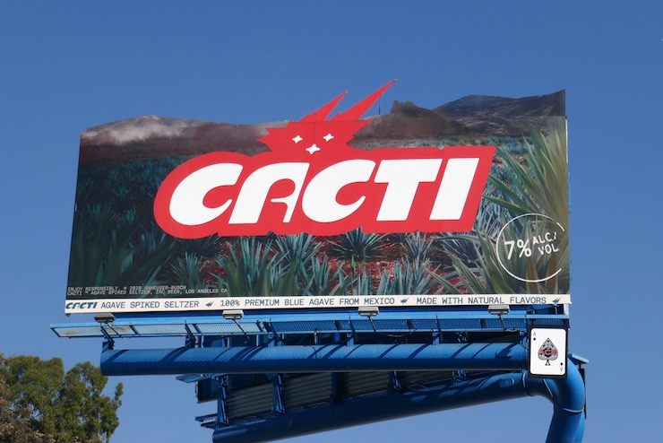 Cacti Agave Spiked Seltzer extension billboard