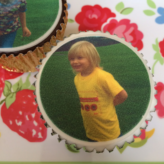 Cake toppers review and giveaway, photo of Alex on a cake