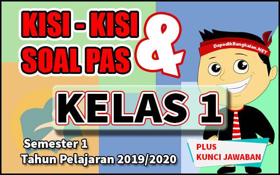 KISI KISI DAN SOAL UAS KELAS 1 SEMESTER 1 TAHUN PELAJARAN 2019 2020