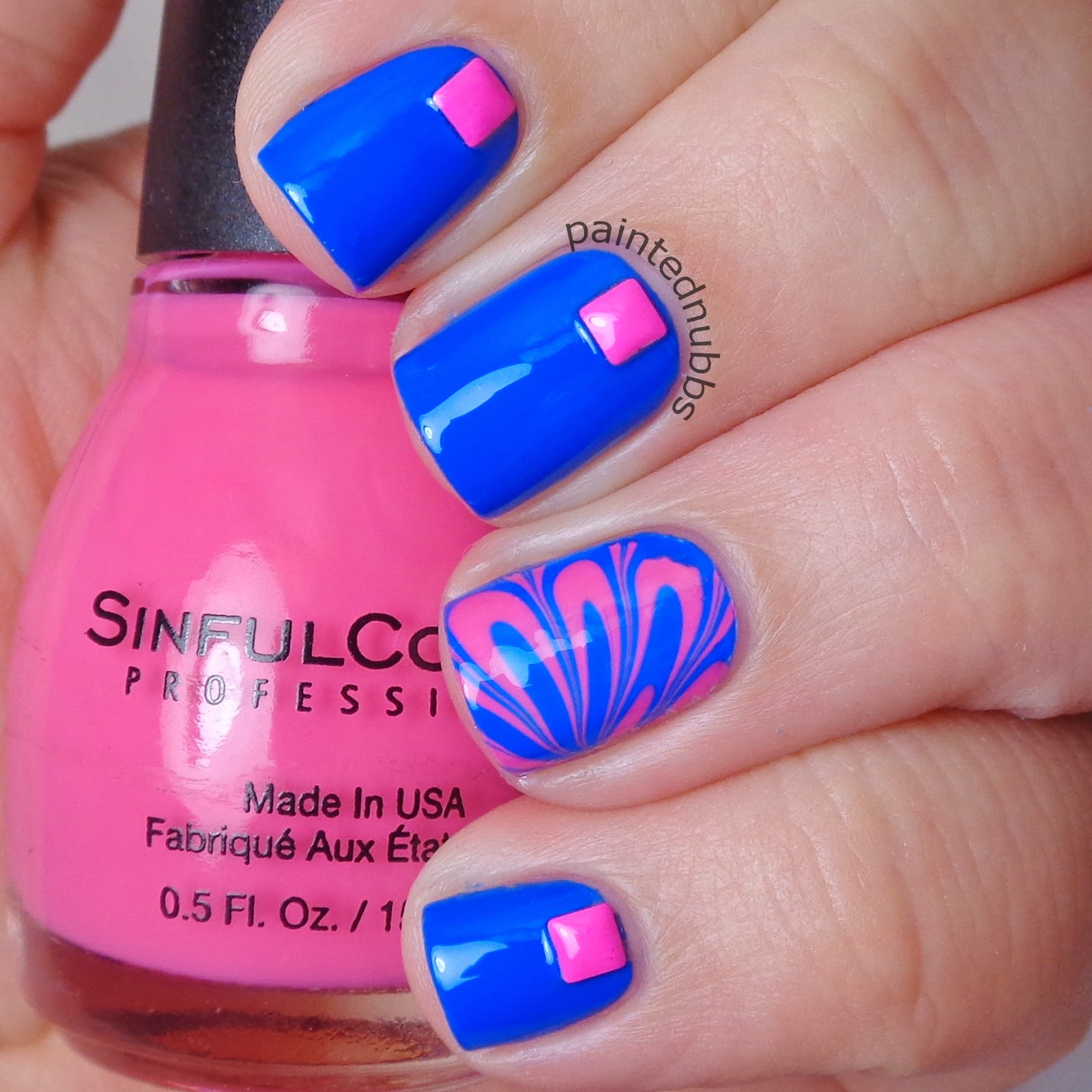 Nail Art February Challenge: Painted Nubbs: Twinkie Nail Art Challenge February Week 3