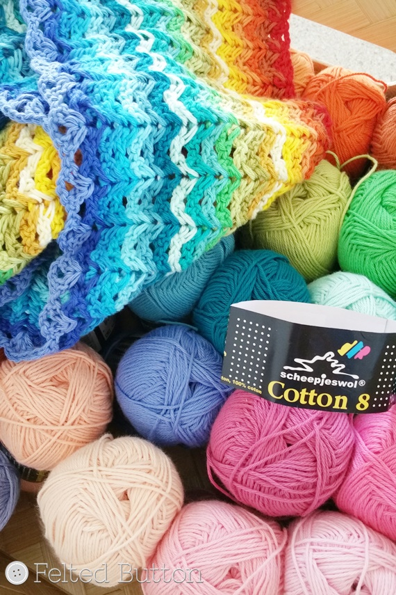 Felted Button Colorful Crochet Patterns Eights Great Cotton 8