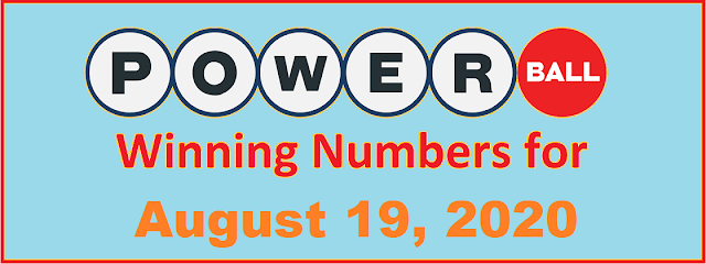 PowerBall Winning Numbers for Wednesday, August 19, 2020