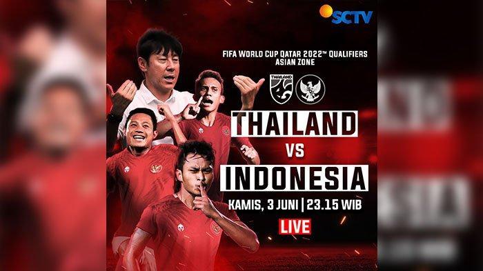 Jadwal Timnas Indonesia vs Thailand di Kualifikasi Piala Dunia 2022
