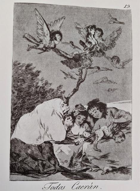 Goya's etching: Todos Caeran