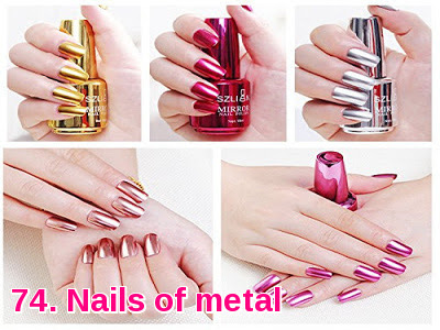 Nails of metal