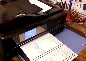 how to fix paper jam Epson Artisan 1430